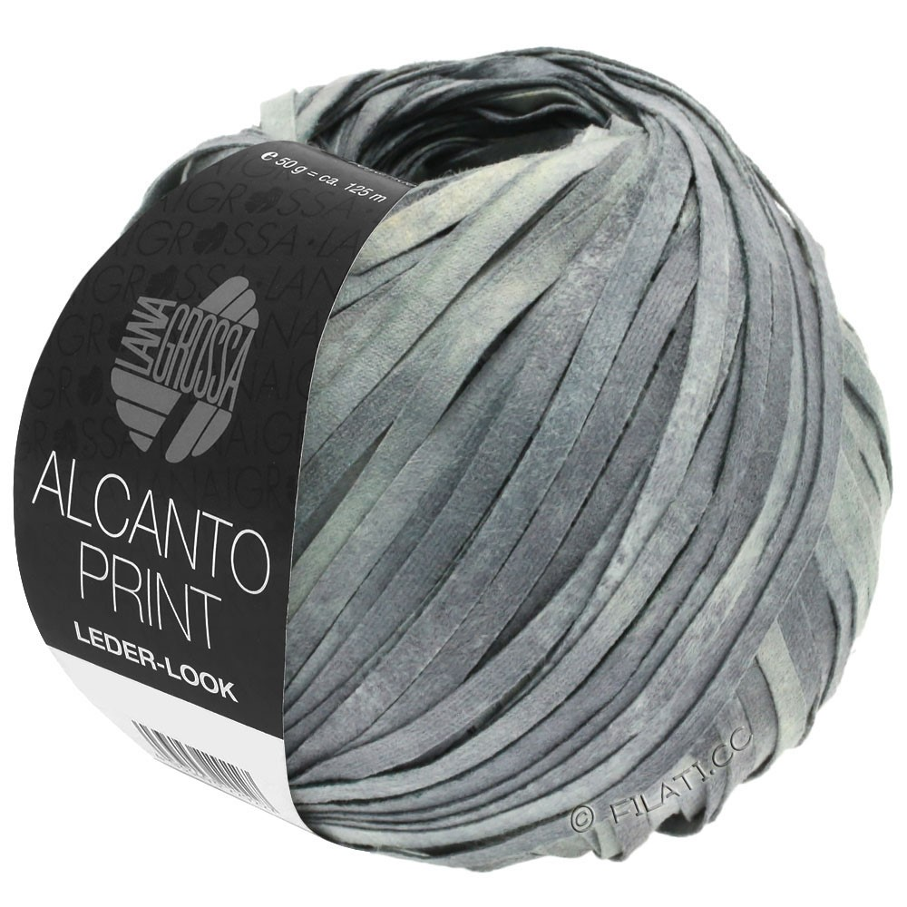 Lana Grossa ALCANTO Print | 103-middelen grijs/licht grijs/natuur