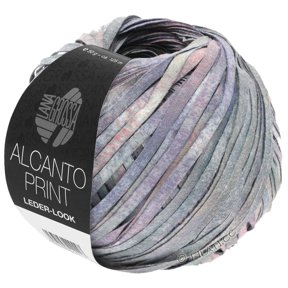 Lana Grossa ALCANTO Print | 104-grijs/sering/rose