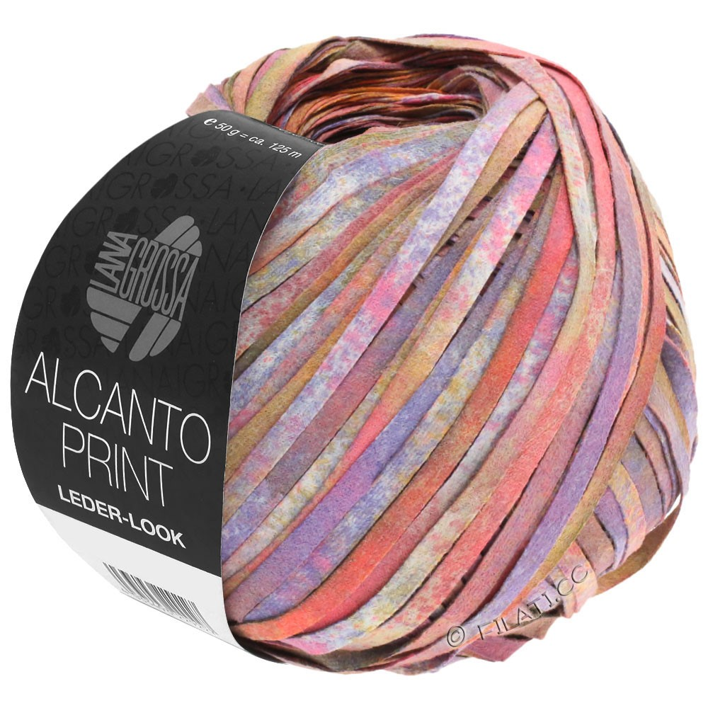 Lana Grossa ALCANTO Print | 106-rose/paars/bruin