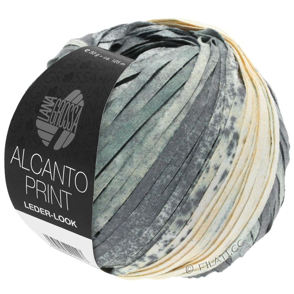 Lana Grossa ALCANTO Print | 203-grijs/wit