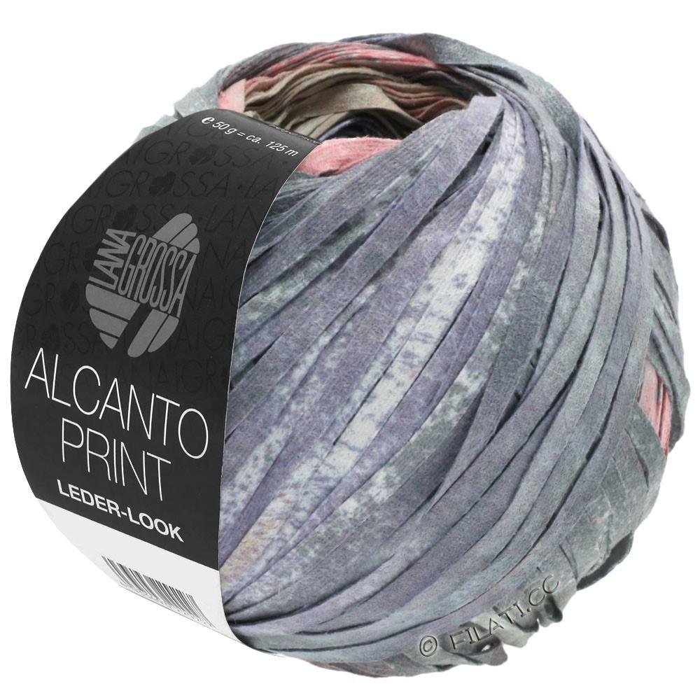 Lana Grossa ALCANTO Print | 205-natuur/beige/grijs/oudroze
