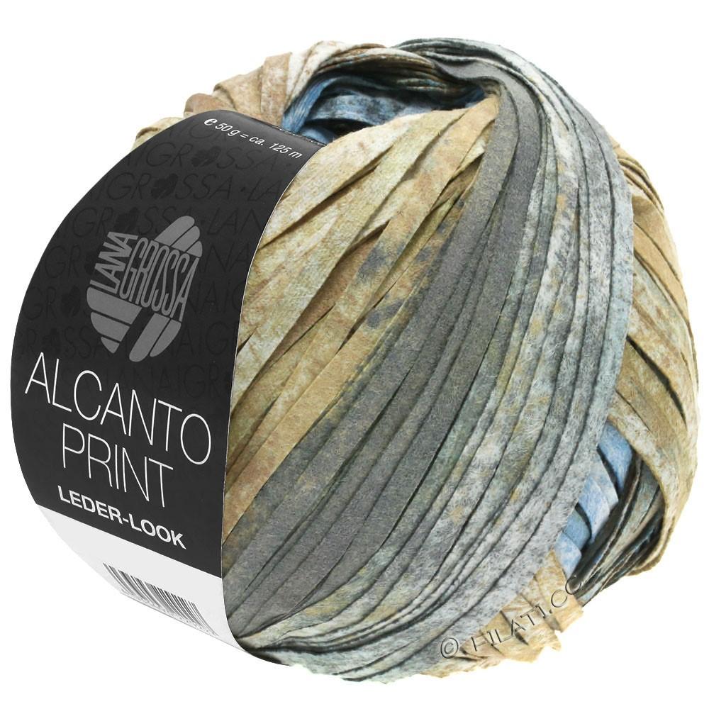 Lana Grossa ALCANTO Print | 206-natuur/zandbruin/grijs