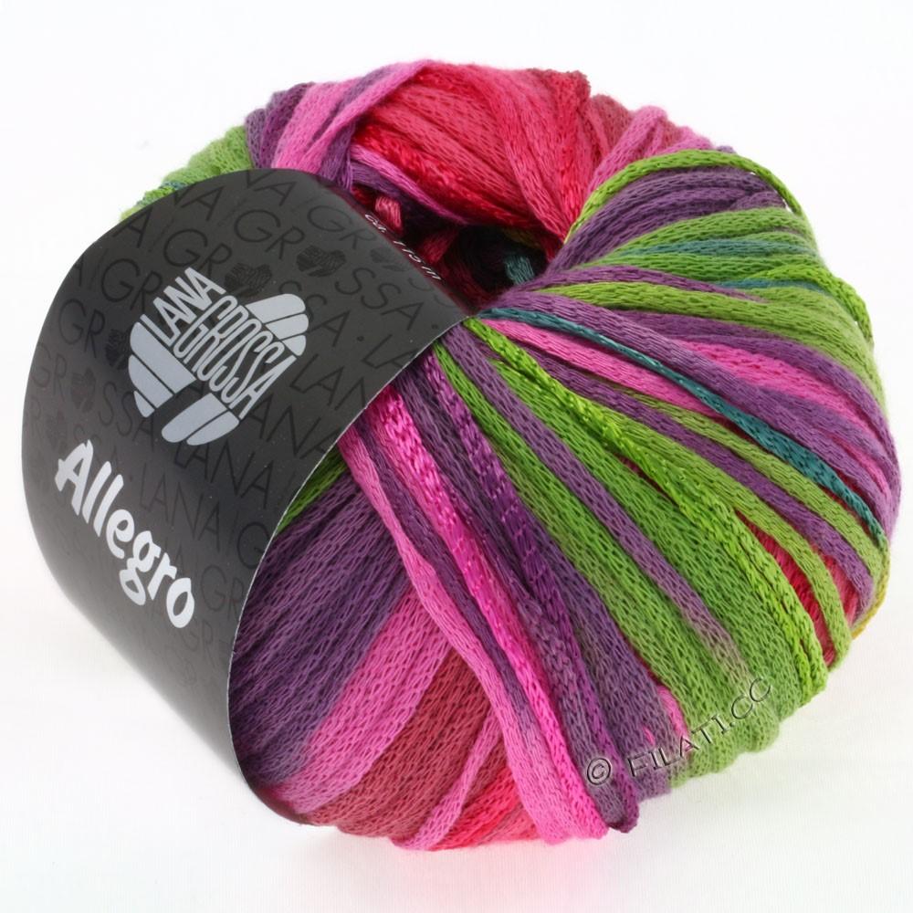 Lana Grossa ALLEGRO | 001-turkoois/mosterdgeel/felroze/licht groen/violet/petrol