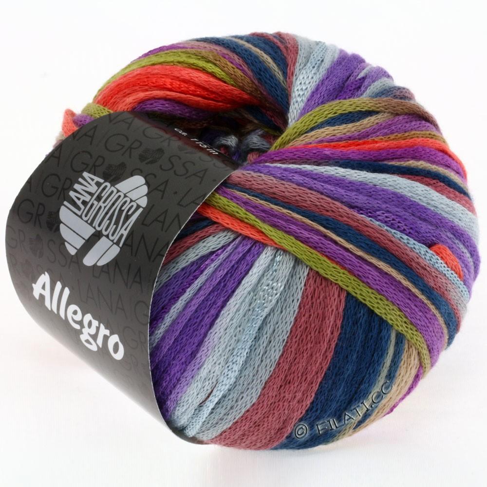 Lana Grossa ALLEGRO | 004-olijf/bes/koraal/violet/kameel