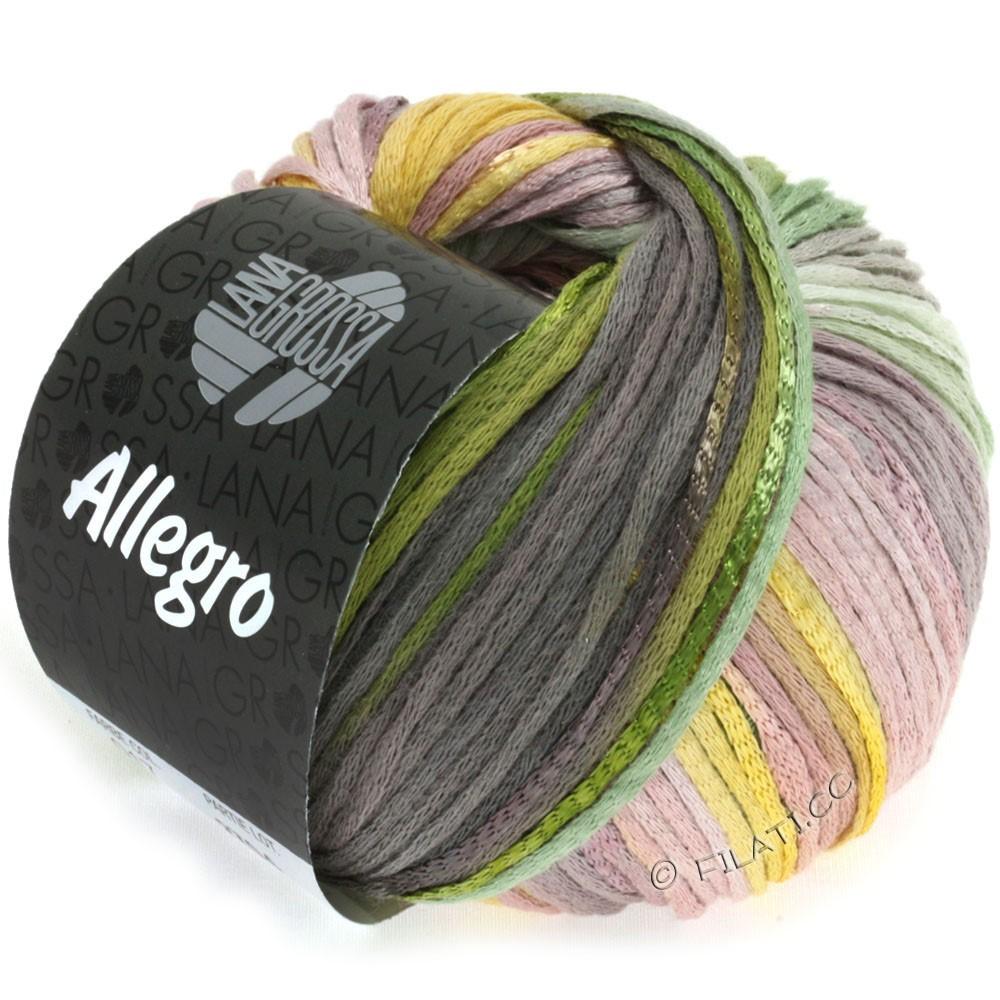 Lana Grossa ALLEGRO | 017-geel/groen/mokka/rozenhout
