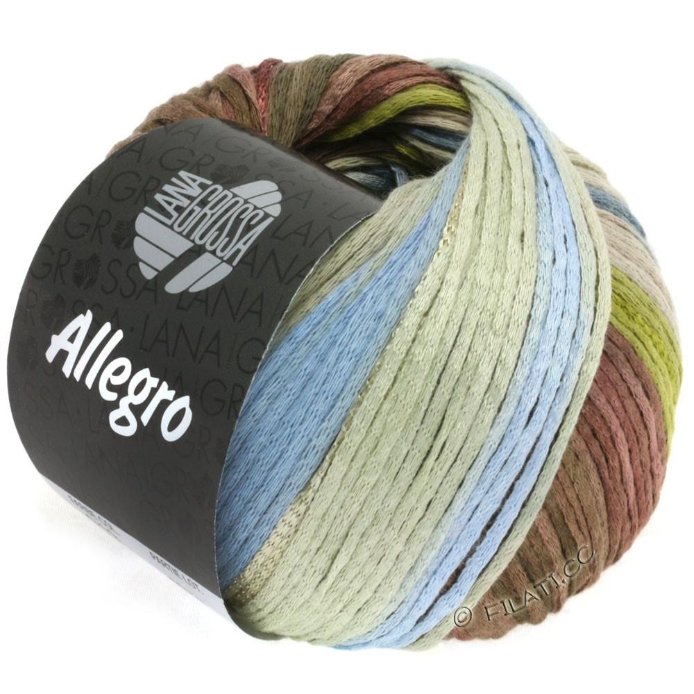 Lana Grossa ALLEGRO | 019-olijf groen/rook blauw/noga/grijs beige/hooigroen