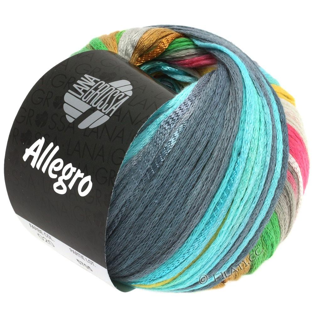 Lana Grossa ALLEGRO | 020-zilvergrijs/lichtgeel/rose/licht groen/blauwgrijs