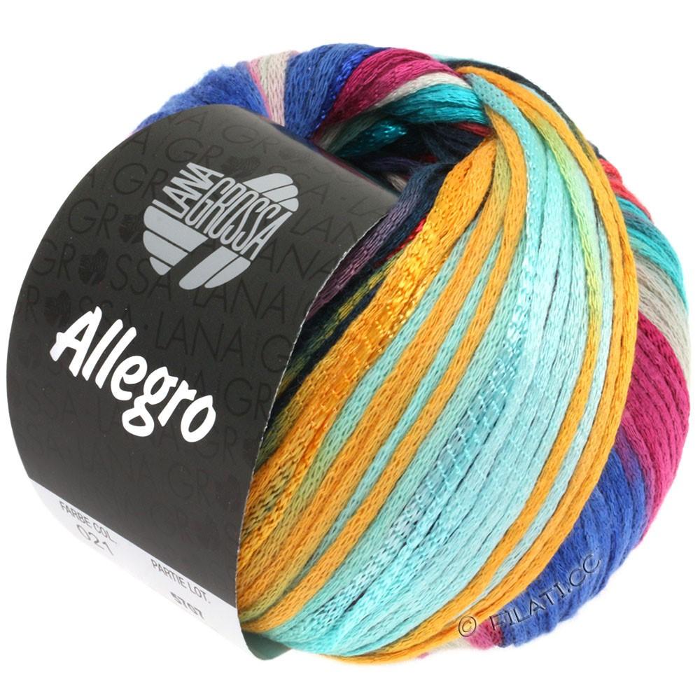 Lana Grossa ALLEGRO   021-lichtturkoois/blauw/petrol/mandarijntje/fictile rood