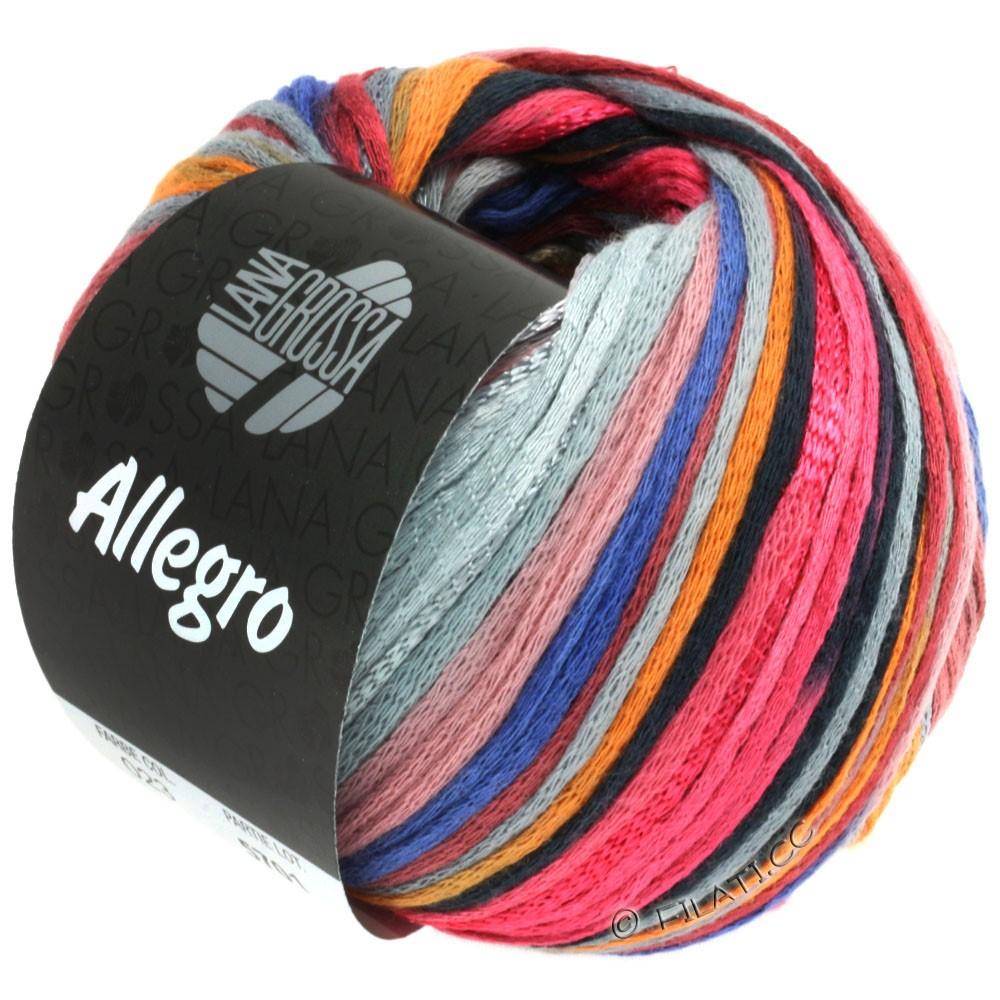 Lana Grossa ALLEGRO | 023-framboos/oranje/zilvergrijs/staalblauw