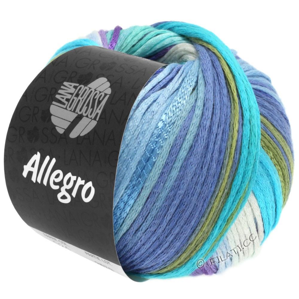 Lana Grossa ALLEGRO | 028-wit/licht blauw/hemelsblauw/lichtturkoois/zachtgroen/paars
