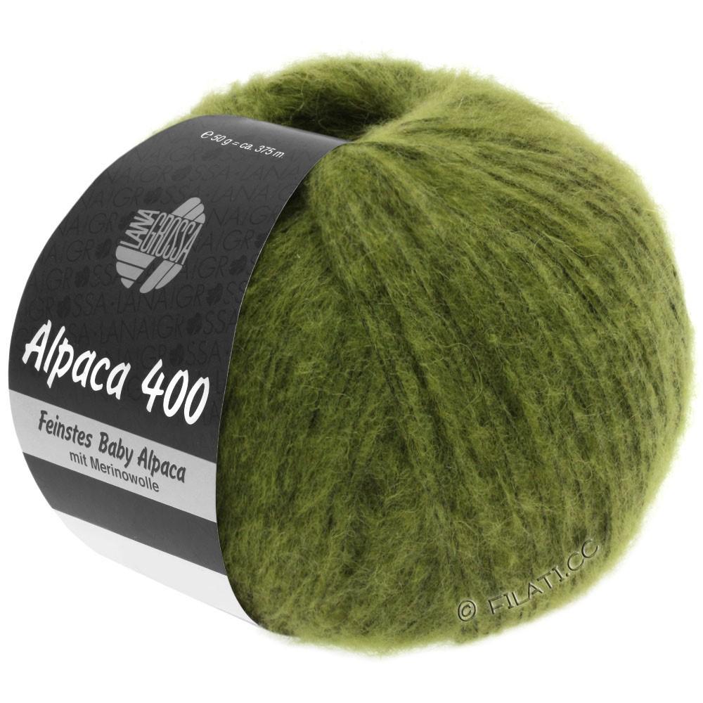Lana Grossa ALPACA 400 | 11-olijf groen