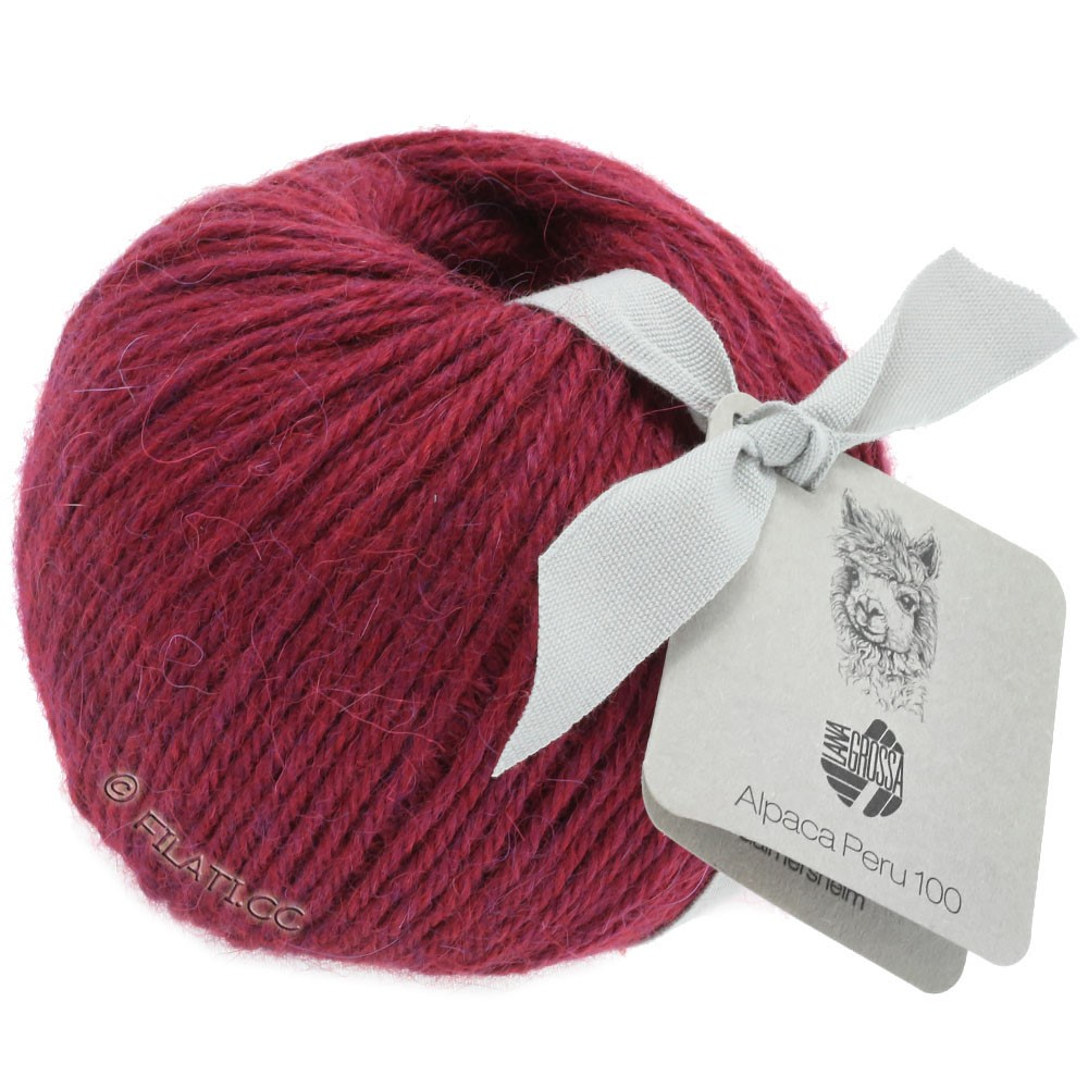 Lana Grossa ALPACA PERU 100 | 103-purperrood