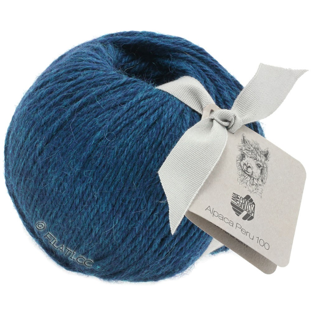 Lana Grossa ALPACA PERU 100   107-donker blauw