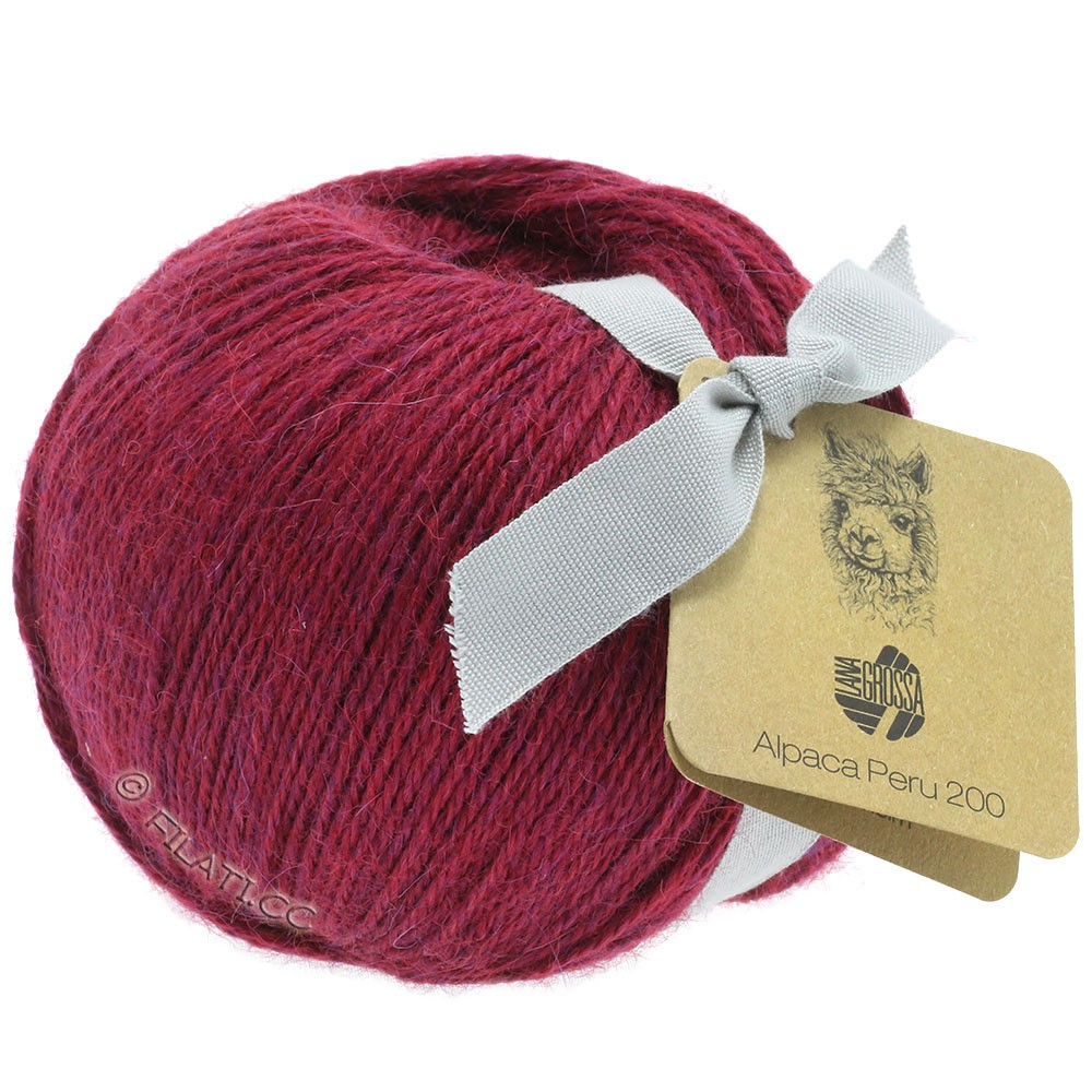 Lana Grossa ALPACA PERU 200 | 203-purperrood