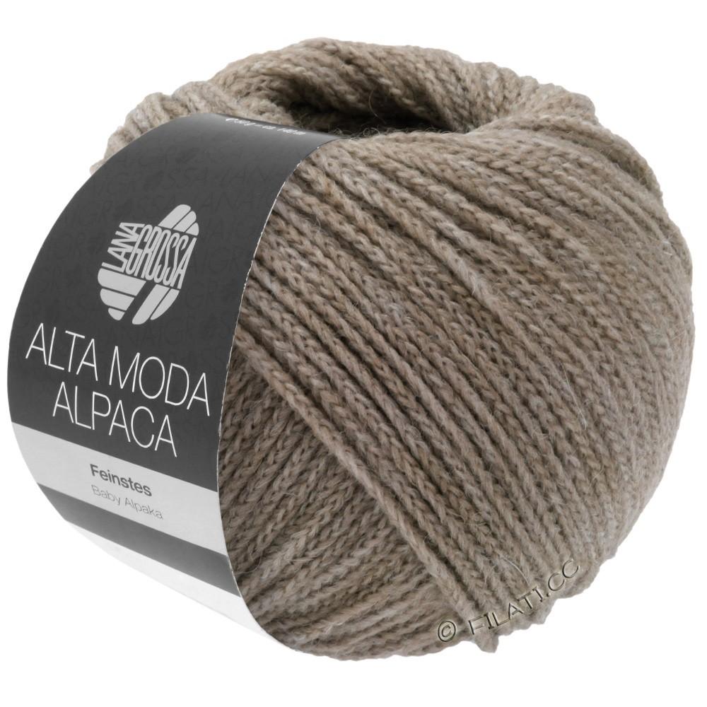 Lana Grossa ALTA MODA ALPACA | 15-grijs/beige gemêleerd