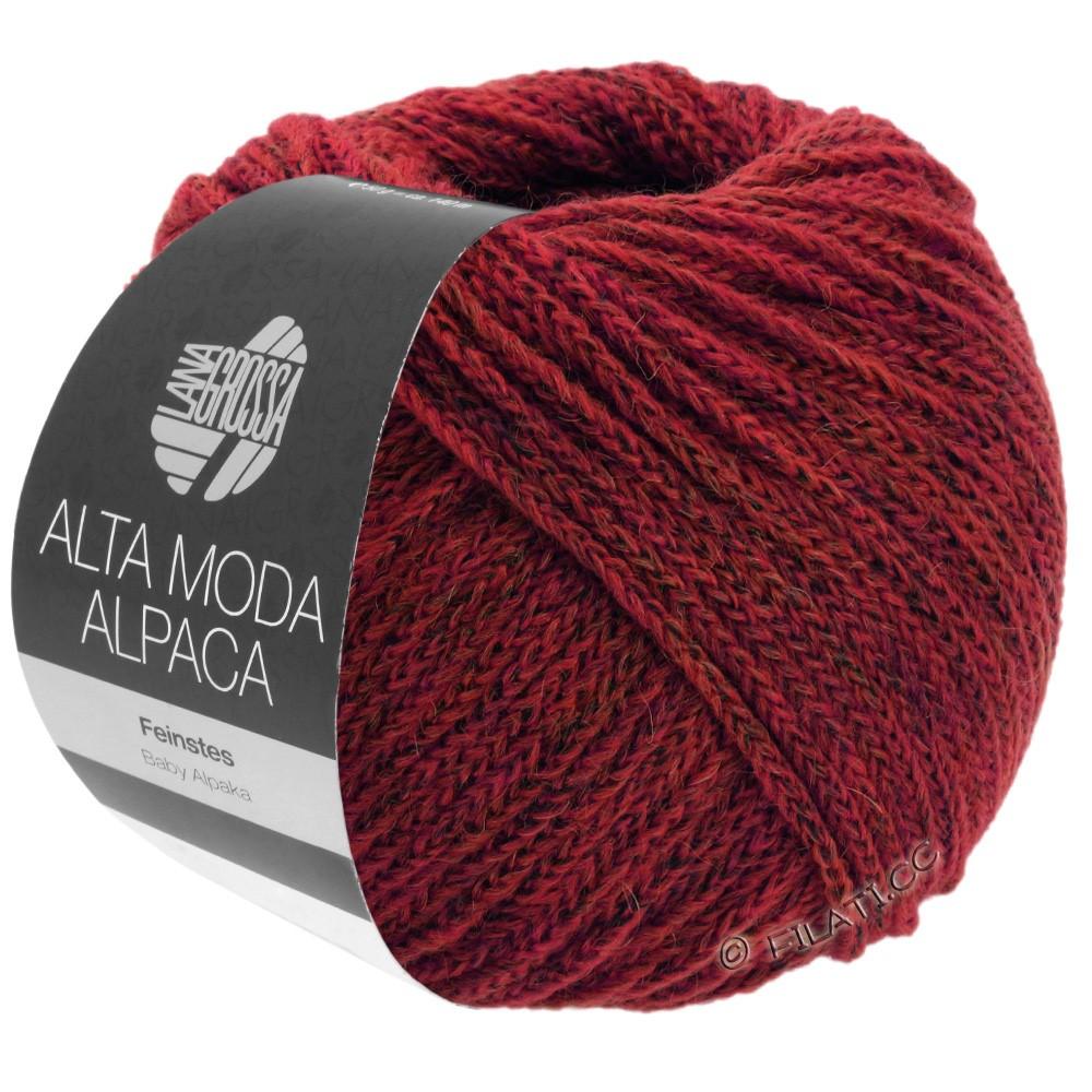 Lana Grossa ALTA MODA ALPACA | 40-donker rood gemêleerd