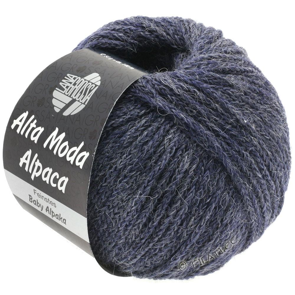 Lana Grossa ALTA MODA ALPACA | 52-grijs violet gemêleerd
