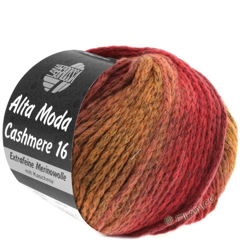 Lana Grossa ALTA MODA CASHMERE 16 Degradé | 112-pastelroze/rozenhout/donker rood/bourgondisch
