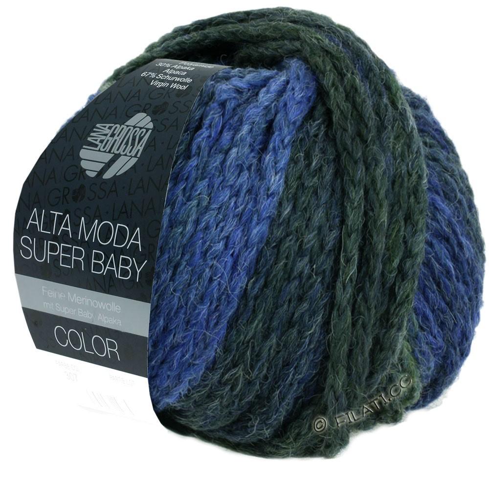 Lana Grossa ALTA MODA SUPER BABY  Color   303-licht blauw/blauw/blauwgrijs