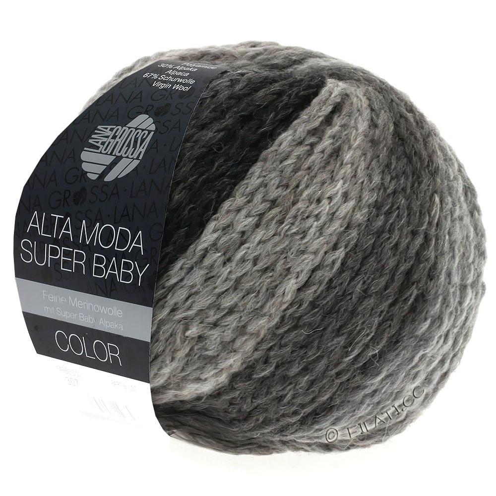 Lana Grossa ALTA MODA SUPER BABY  Color   308-licht grijs/donker grijs/antraciet