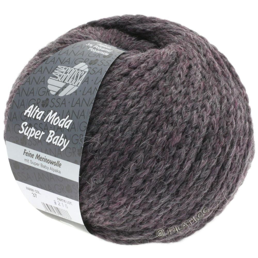 Lana Grossa ALTA MODA SUPER BABY  Uni | 37-grijs violet gemêleerd