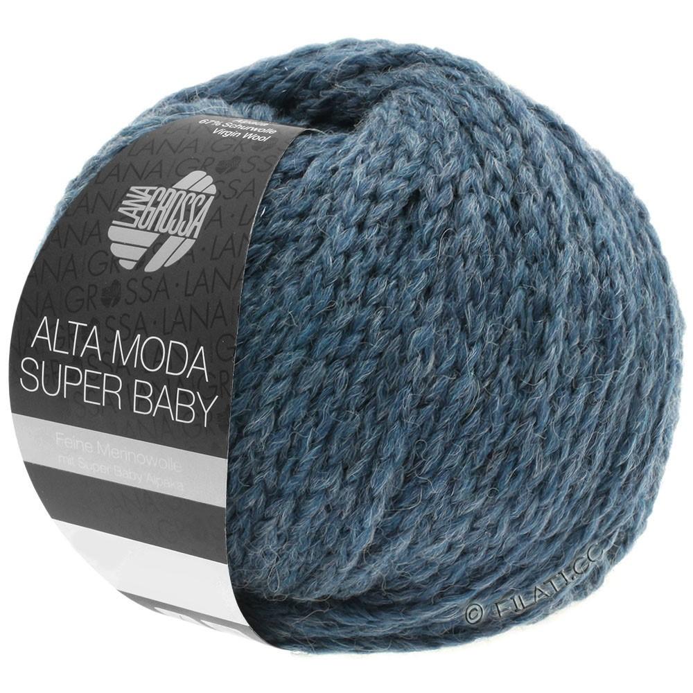 Lana Grossa ALTA MODA SUPER BABY  Uni | 41-grijs blauw gemêleerd