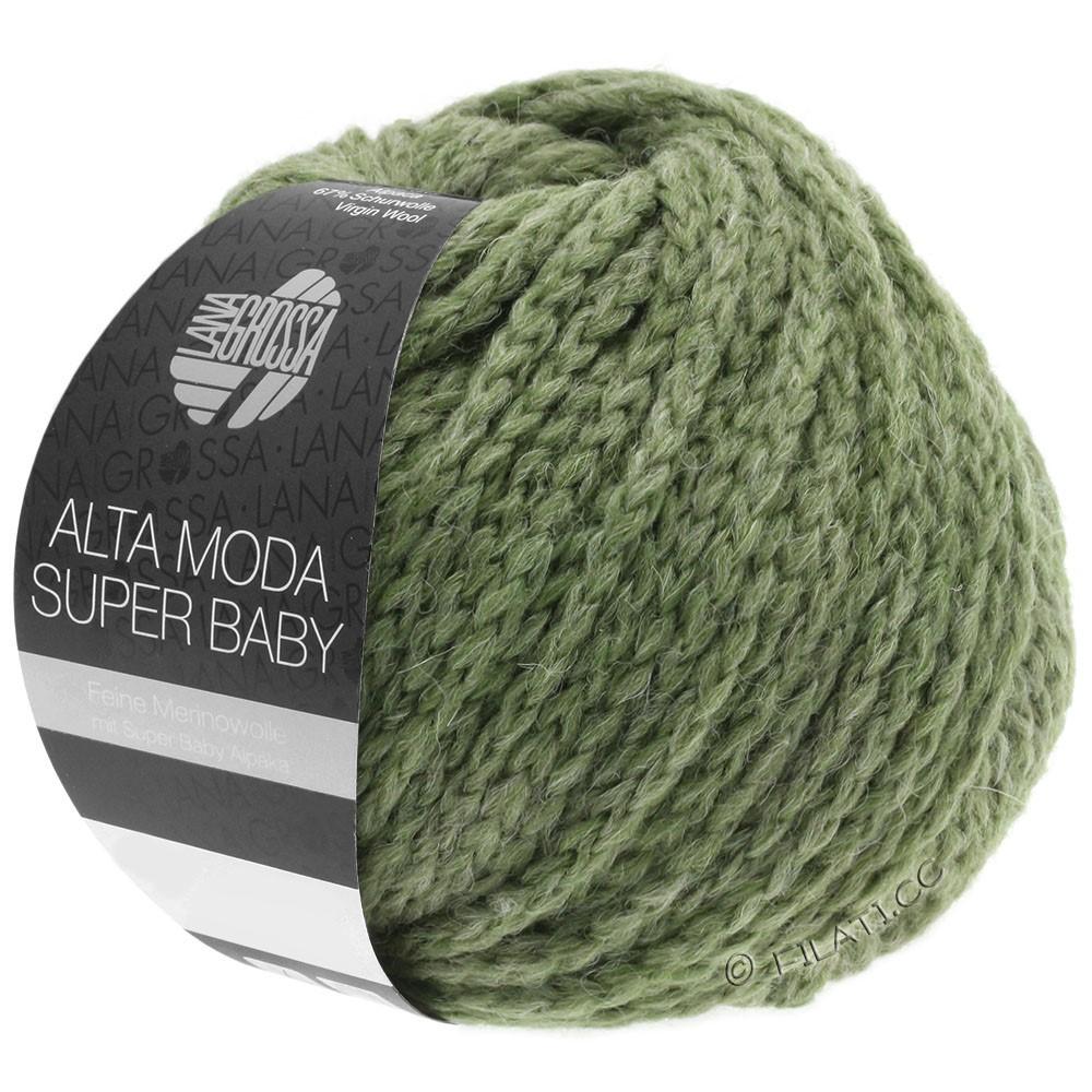 Lana Grossa ALTA MODA SUPER BABY  Uni | 44-grijs groen