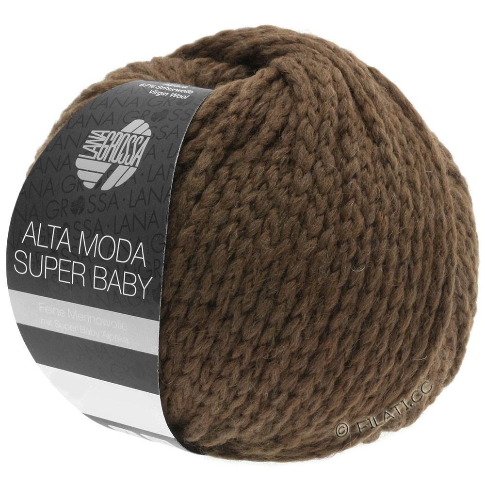 Lana Grossa ALTA MODA SUPER BABY  Uni | 45-donker bruin