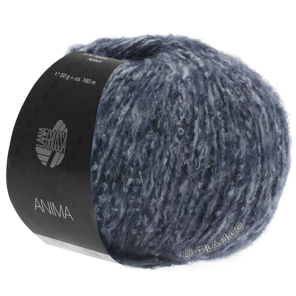 Lana Grossa ANIMA | 08-donker blauw gemêleerd