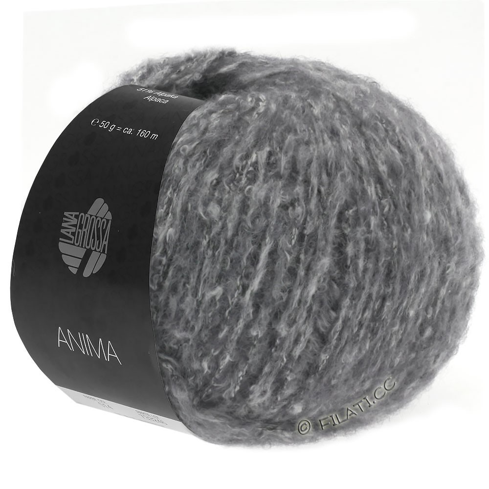 Lana Grossa ANIMA | 10-donker grijs gemêleerd