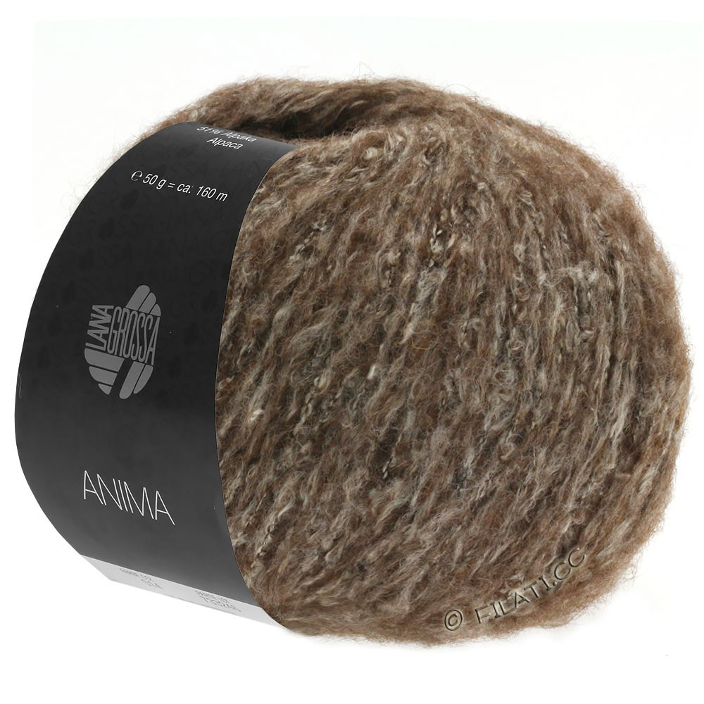 Lana Grossa ANIMA | 12-donker bruin gemêleerd