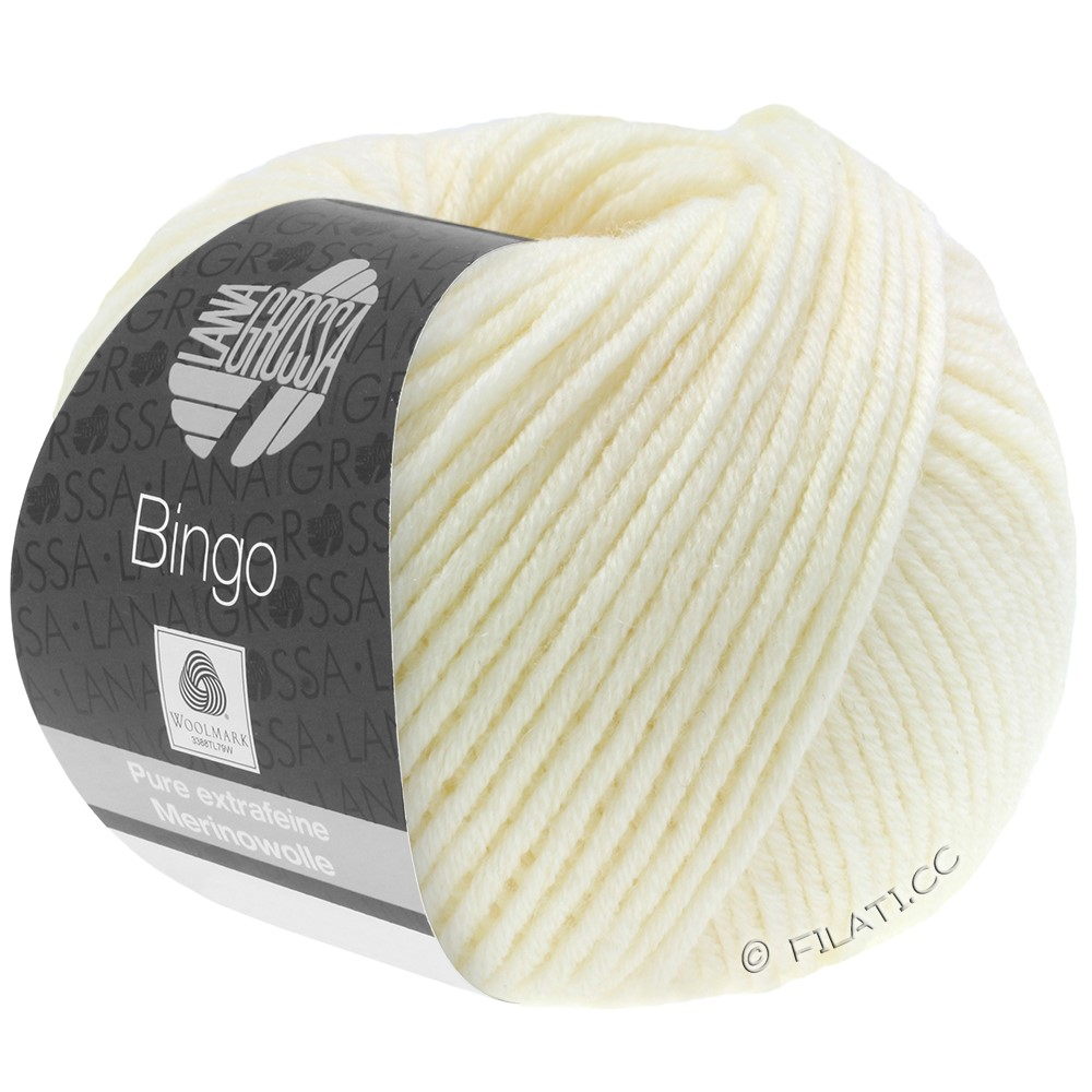 Lana Grossa BINGO  Uni/Melange | 005-ruwe witte