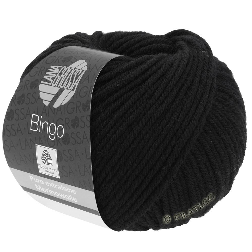 Lana Grossa BINGO  Uni/Melange | 024-zwart