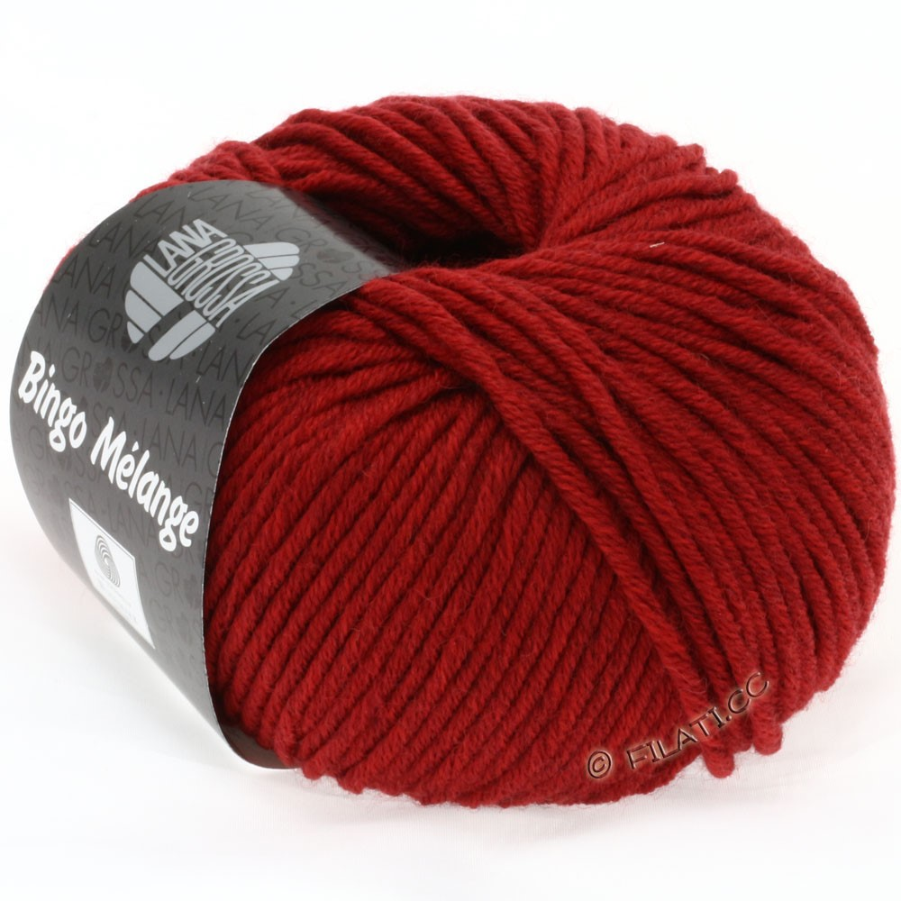 Lana Grossa BINGO  Uni/Melange | 226-donker rood gemêleerd