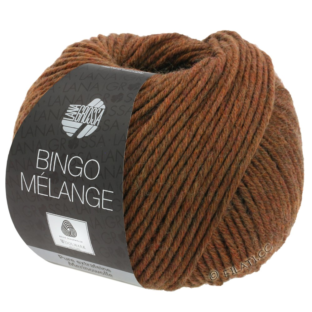 Lana Grossa BINGO  Uni/Melange | 241-kastanje gemêleerd