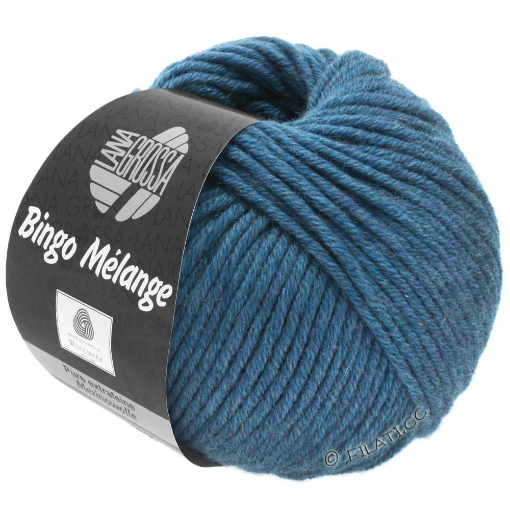Lana Grossa BINGO  Uni/Melange | 244-donker blauw gemêleerd