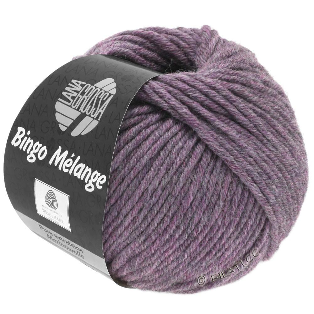 Lana Grossa BINGO  Uni/Melange | 245-antieke violet gemêleerd