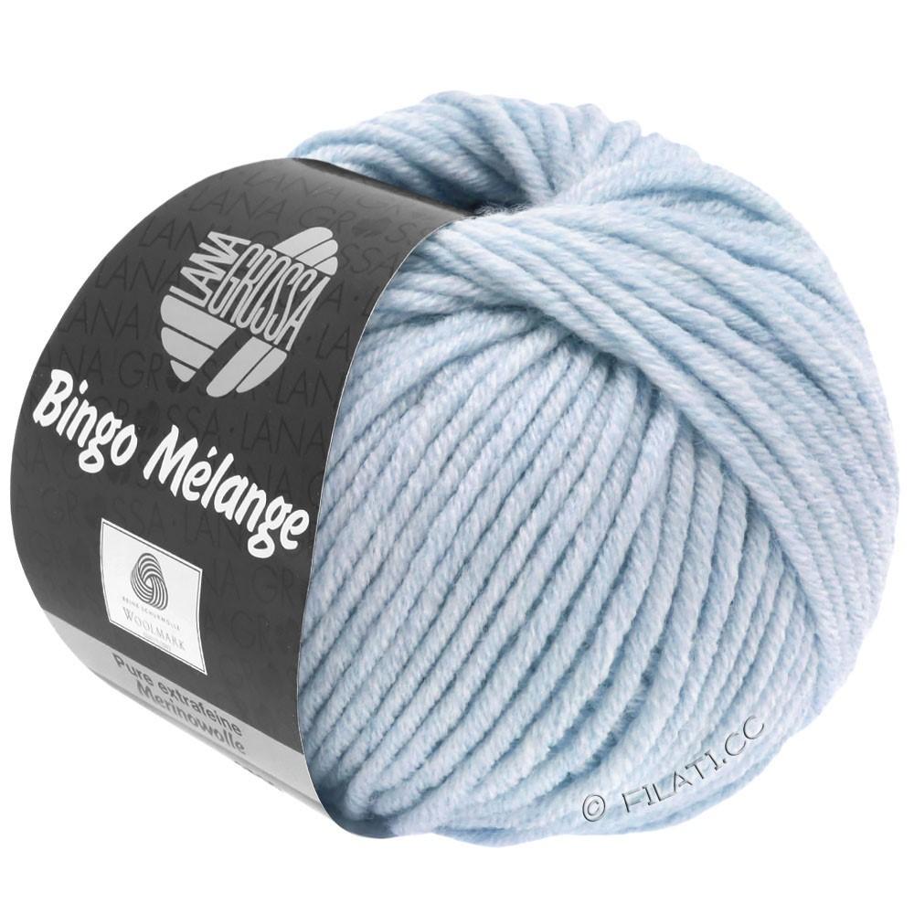 Lana Grossa BINGO  Uni/Melange | 250-licht blauw gemêleerd