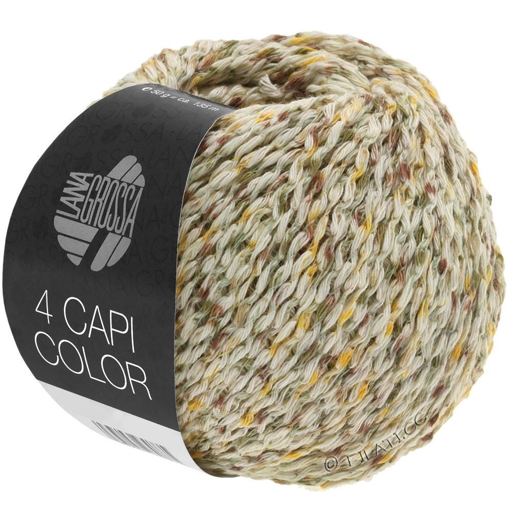 Lana Grossa 4 CAPI Color | 102-natuur/geel/kaki/bruin