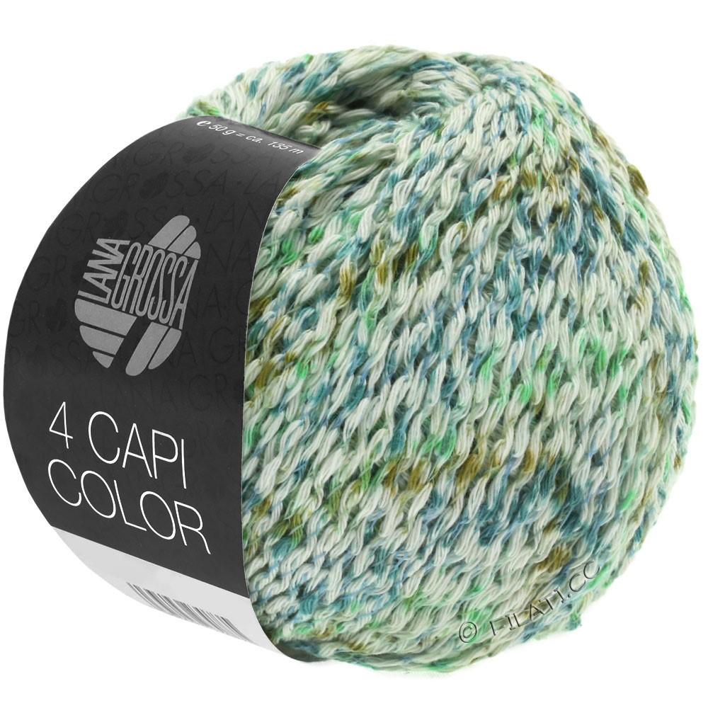 Lana Grossa 4 CAPI Color | 104-natuur/jade groen/turkoois/olijf
