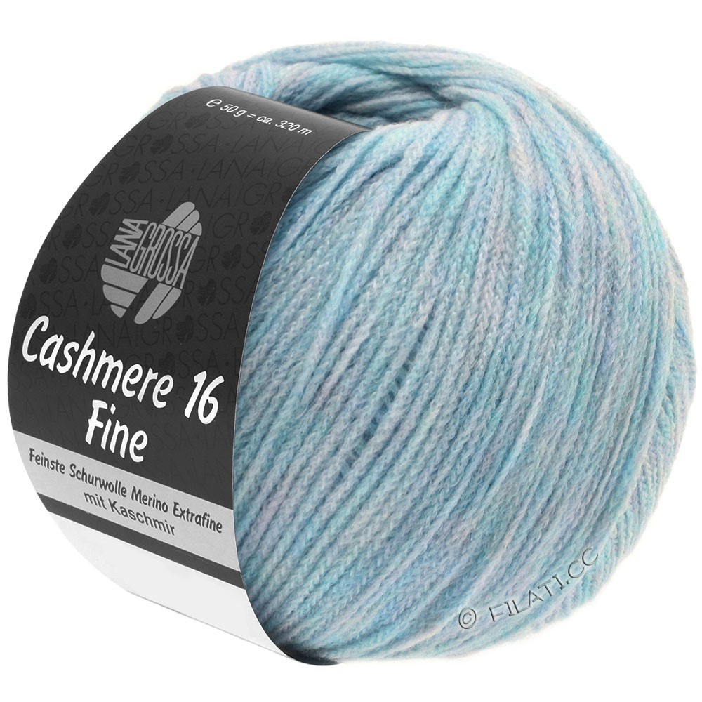 Lana Grossa CASHMERE 16 FINE Uni/Degradé | 003-licht blauw