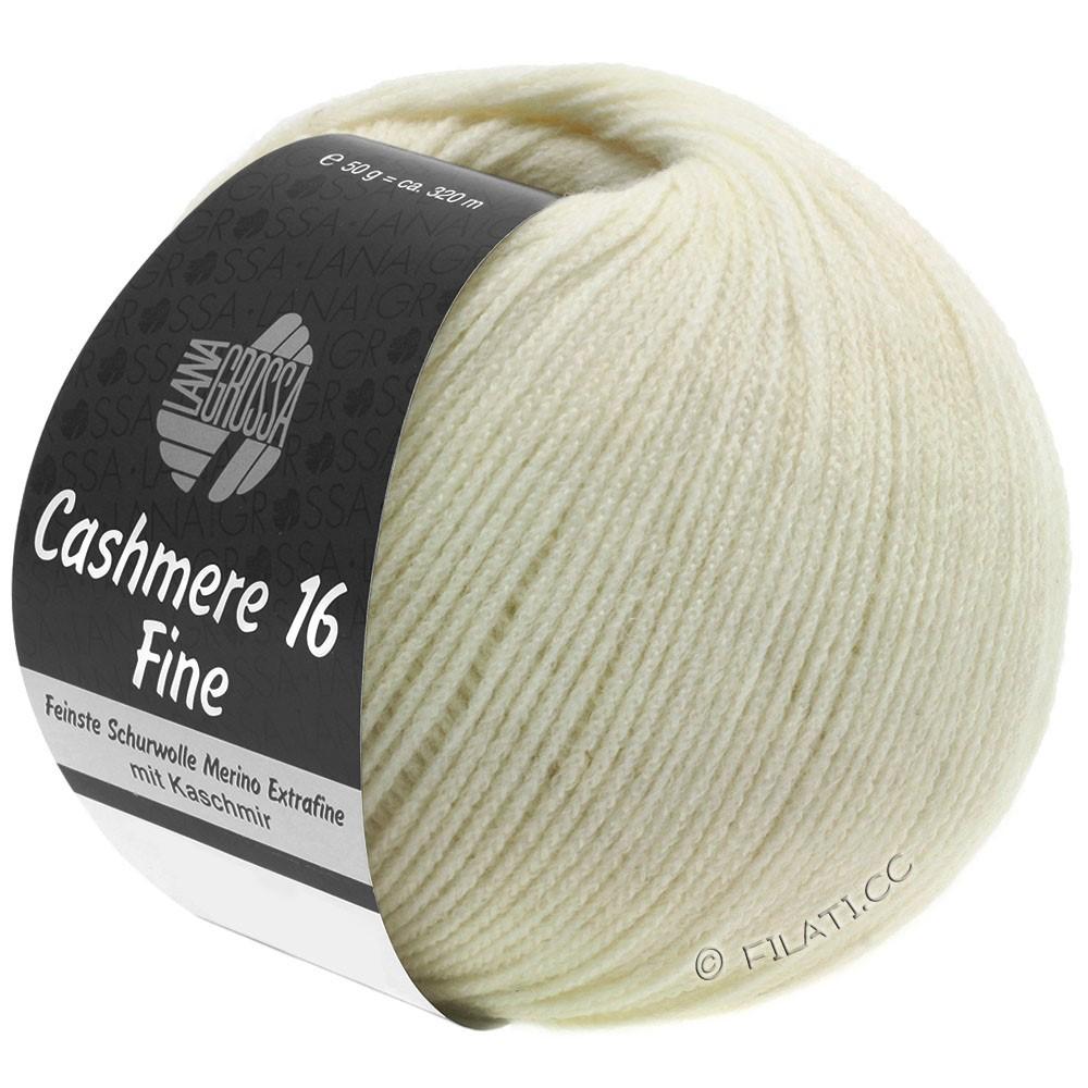 Lana Grossa CASHMERE 16 FINE Uni/Degradé | 009-ruwe witte