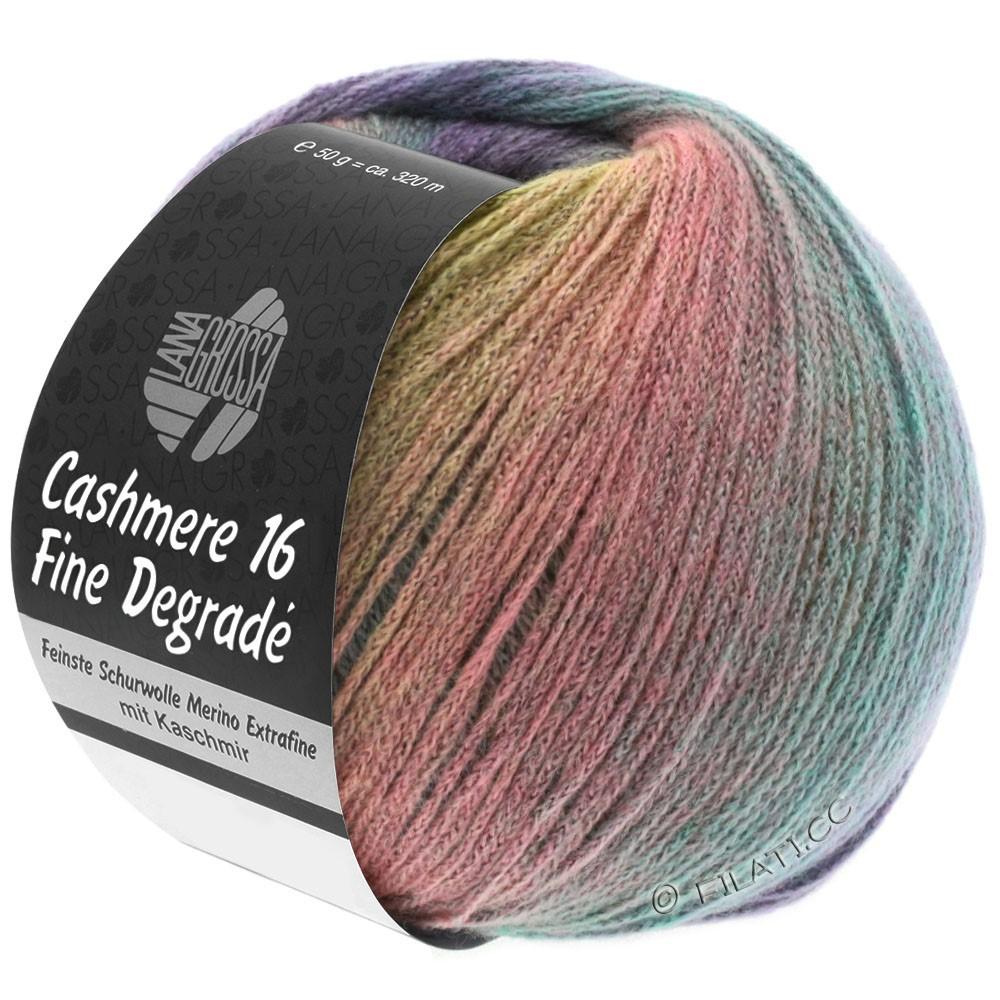 Lana Grossa CASHMERE 16 FINE Uni/Degradé | 101-zachtgeel/licht grijs/rose/munt