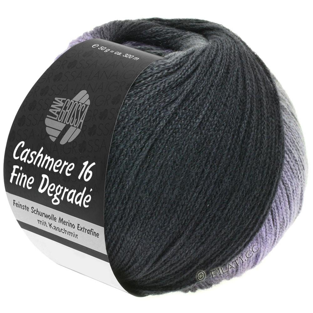 Lana Grossa CASHMERE 16 FINE Uni/Degradé | 102-donker grijs/antraciet/zwart