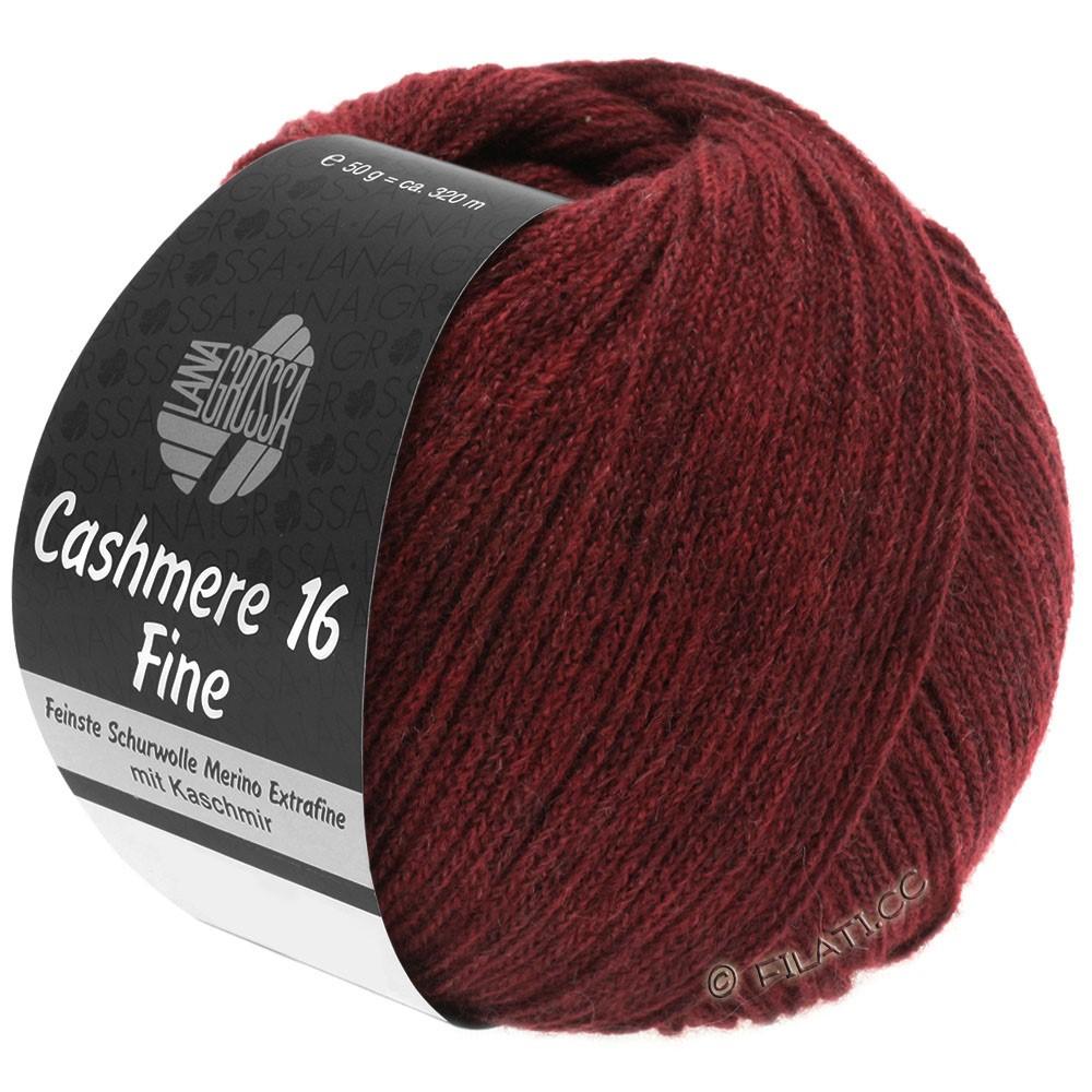 Lana Grossa CASHMERE 16 FINE Uni/Degradé | 011-donker rood