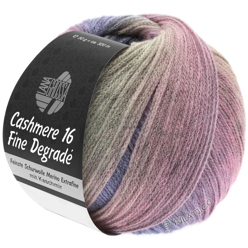 Lana Grossa CASHMERE 16 FINE Uni/Degradé | 110-grijs roze/paars/rosé