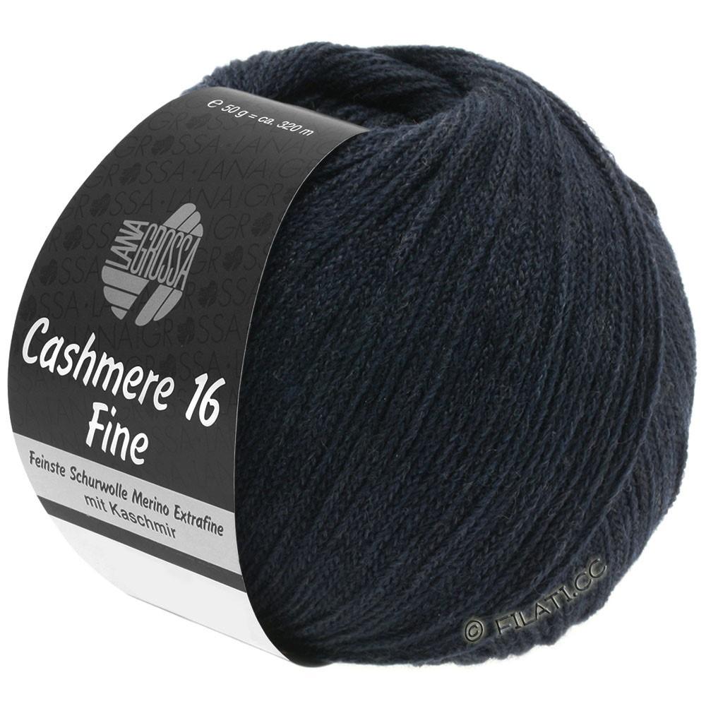 Lana Grossa CASHMERE 16 FINE Uni/Degradé | 012-nacht blauw