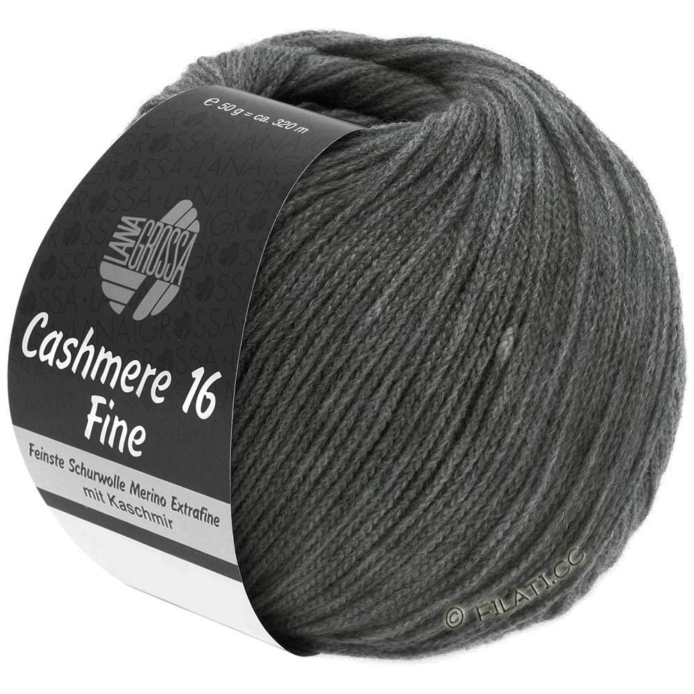 Lana Grossa CASHMERE 16 FINE Uni/Degradé | 016-donker grijs
