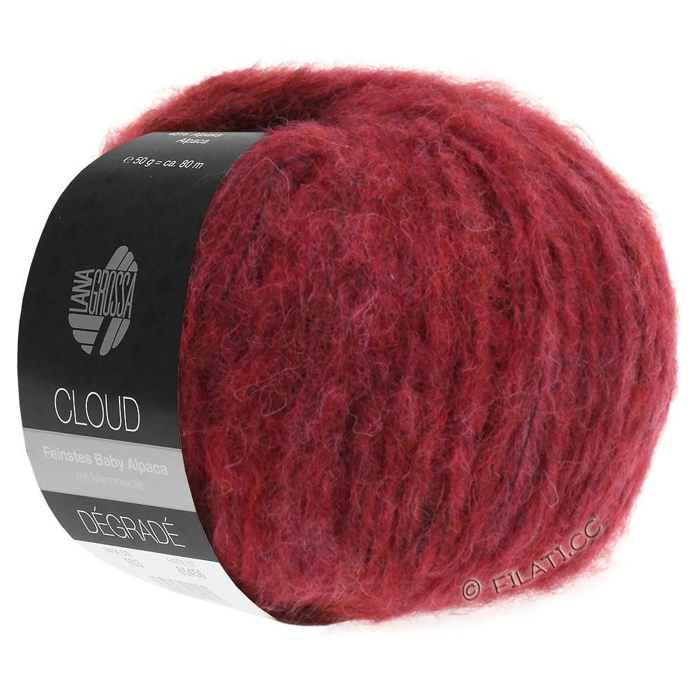 Lana Grossa CLOUD Degradé | 104-rood violet/baksteenrood