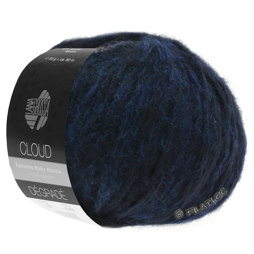 Lana Grossa CLOUD Degradé | 107-nacht blauw/zwart